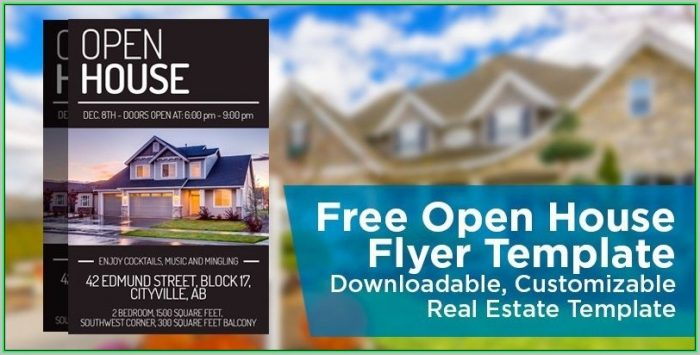 Free Open House Flyer Template Word