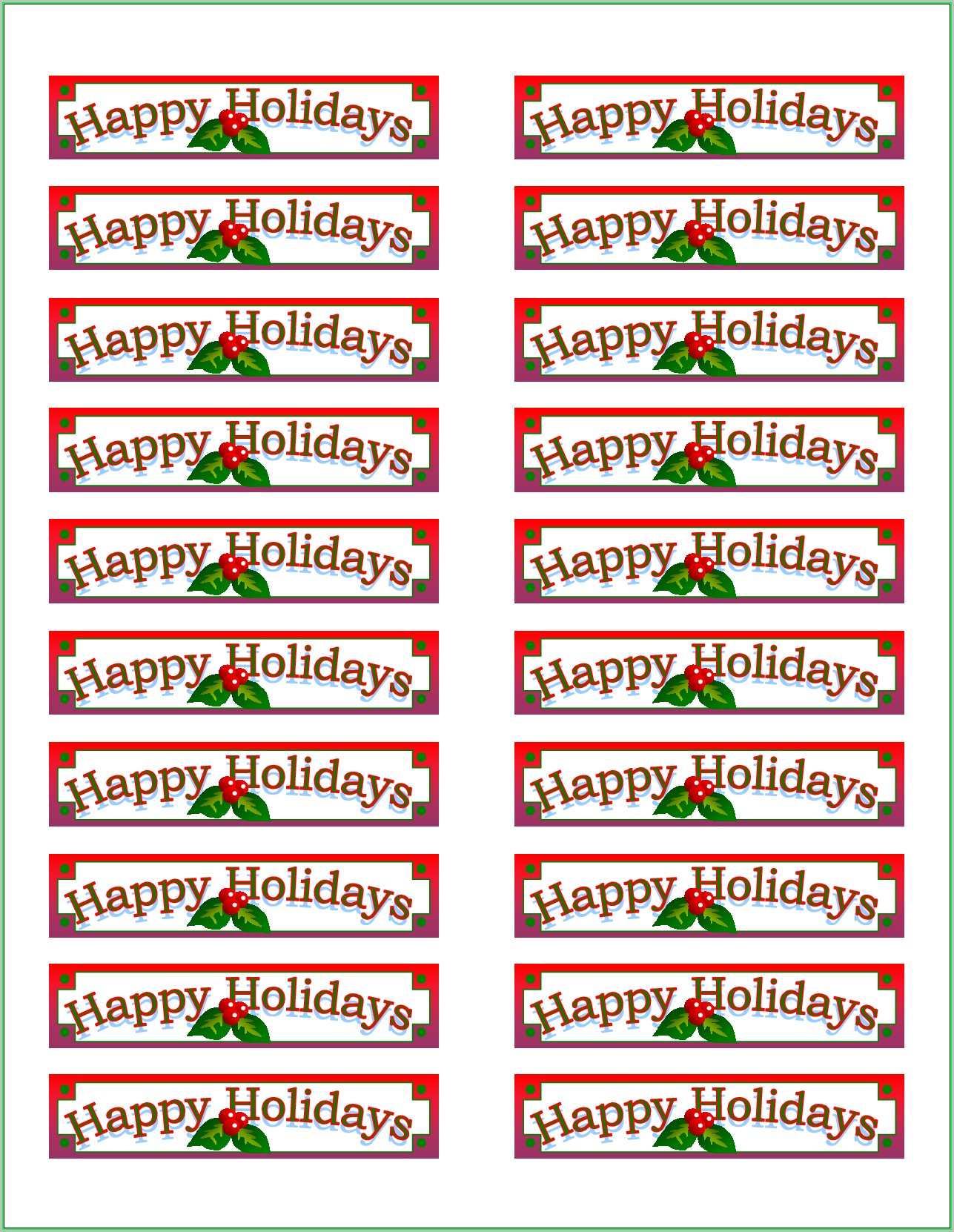 Free Printable Address Label Templates 5160