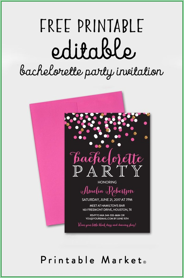Free Printable Bachelorette Itinerary Template