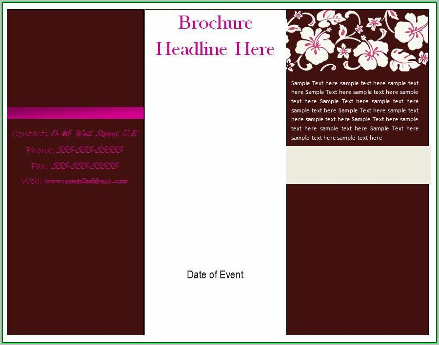 Free Printable Blank Brochure Templates