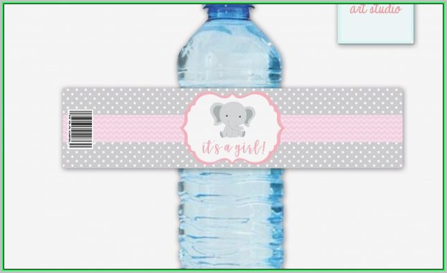 Free Printable Blank Water Bottle Label Template