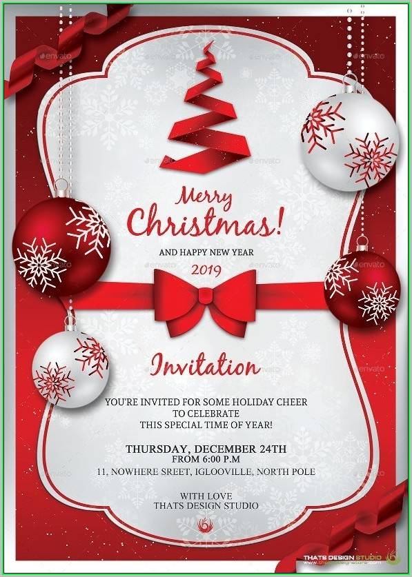Free Printable Christmas Invitation Templates For Word