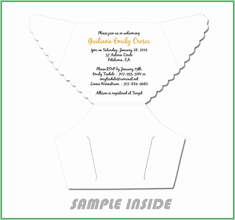 Free Printable Diaper Invitation Template