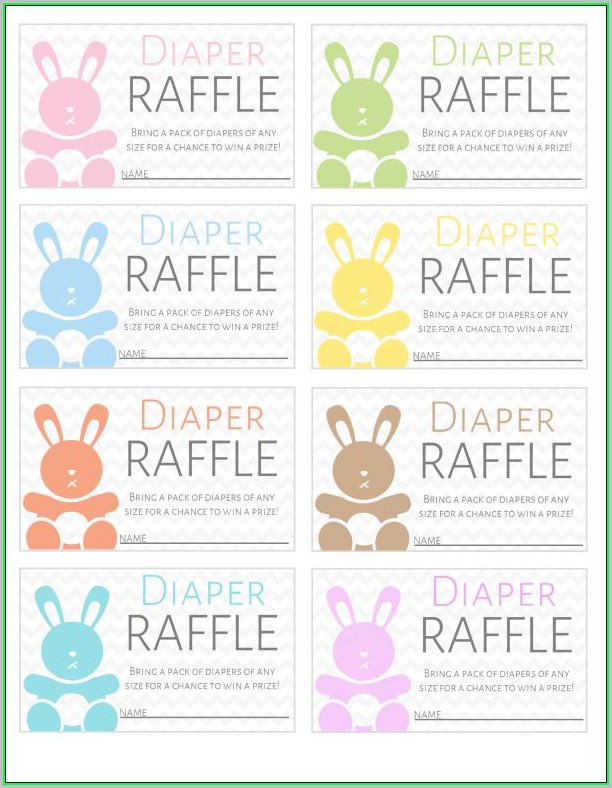 Free Printable Diaper Raffle Tickets Template