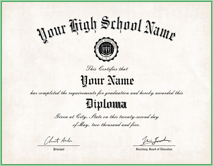 It's just an image of Printable Home School Diploma within honorary degree