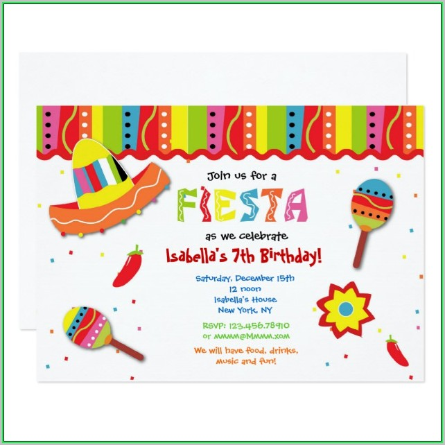 Free Printable Mexican Fiesta Invitation Templates
