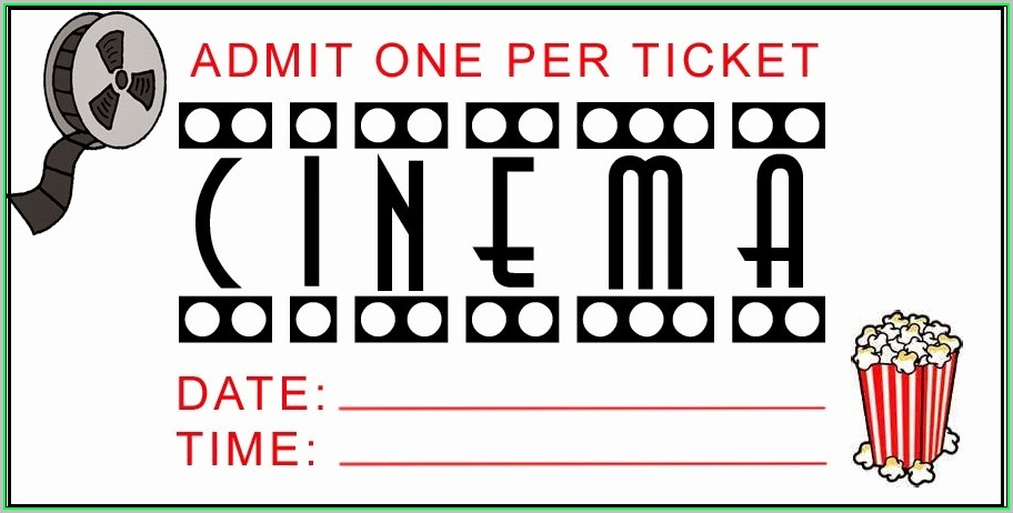 Free Printable Movie Tickets Template