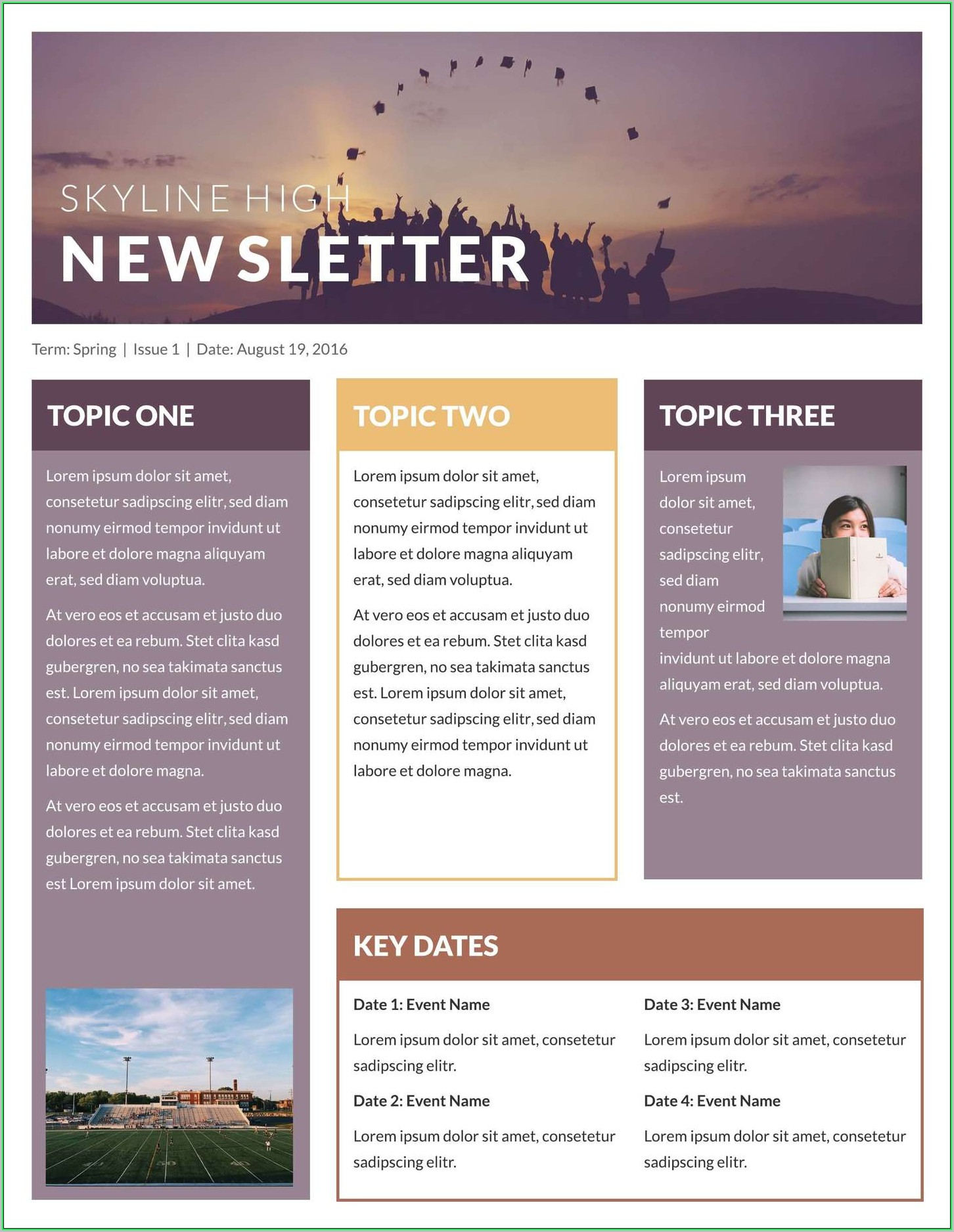 Free Printable Newsletter Templates For Church