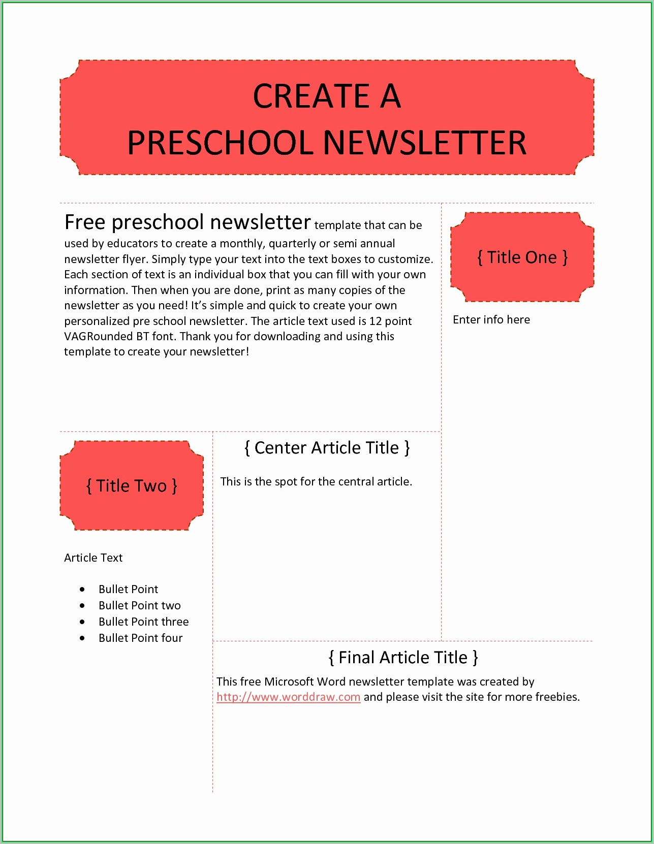 Free Printable Newsletter Templates For Daycares