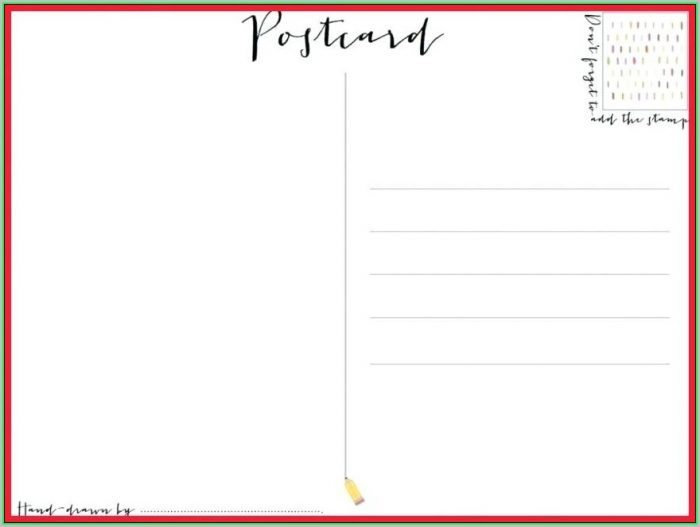 Free Printable Postcard Template