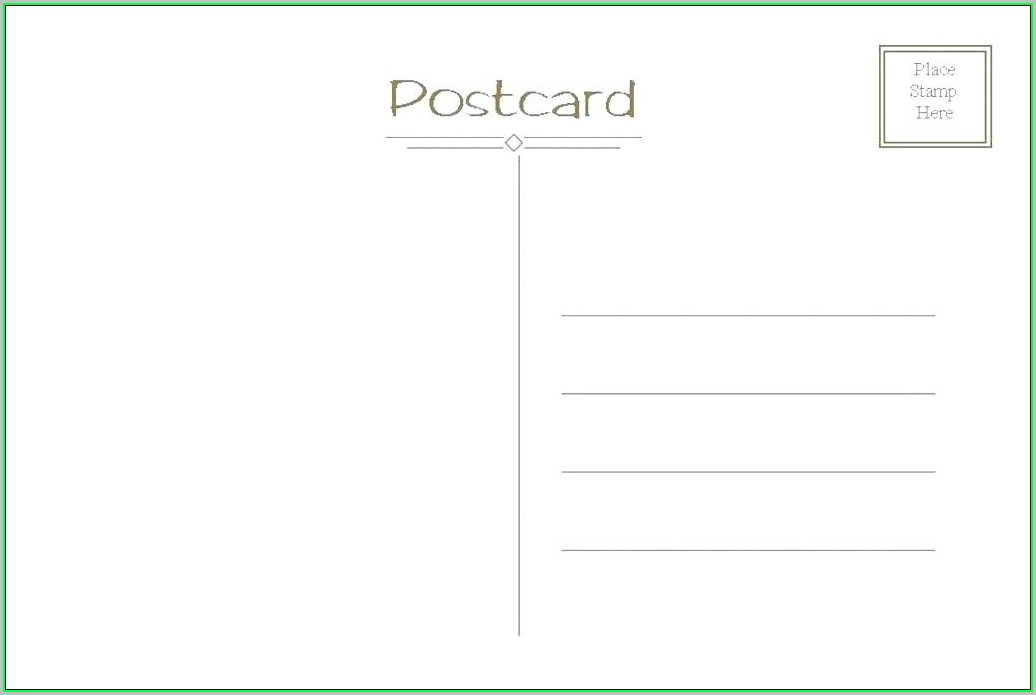 Free Printable Postcard Templates Word