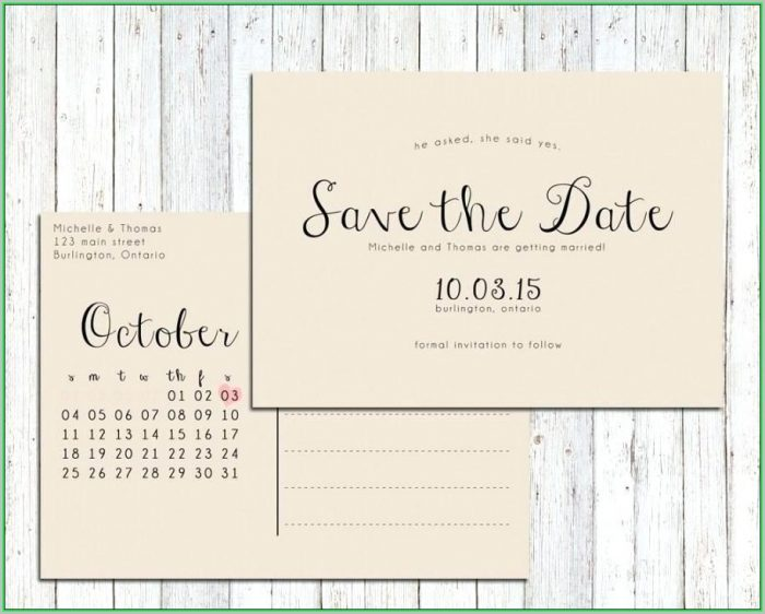 Free Printable Save The Date Postcard Templates