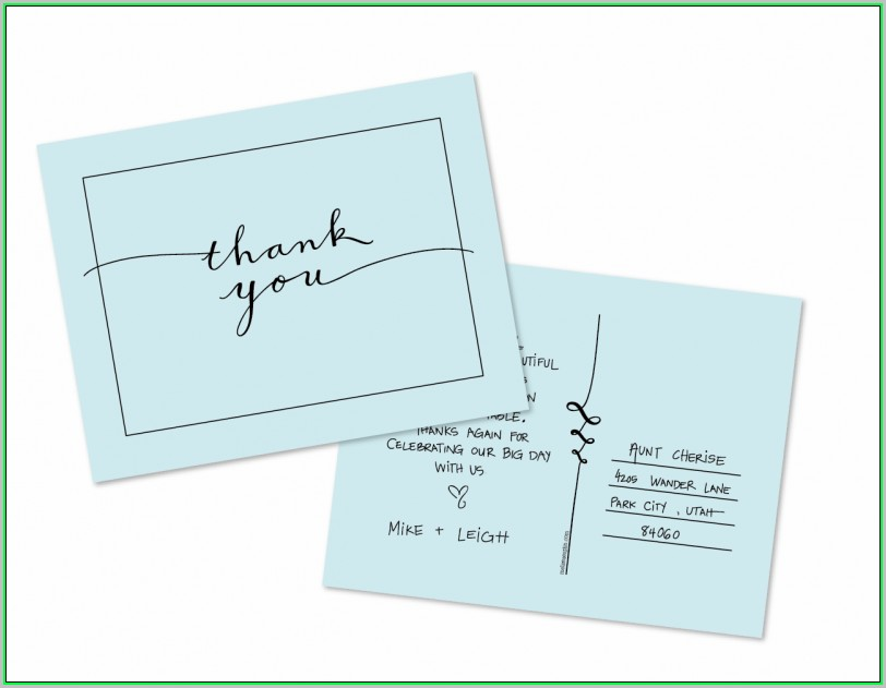 Free Printable Thank You Postcard Templates