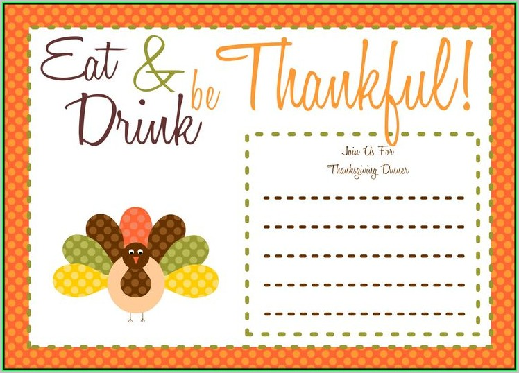 Free Printable Thanksgiving Invitation Templates