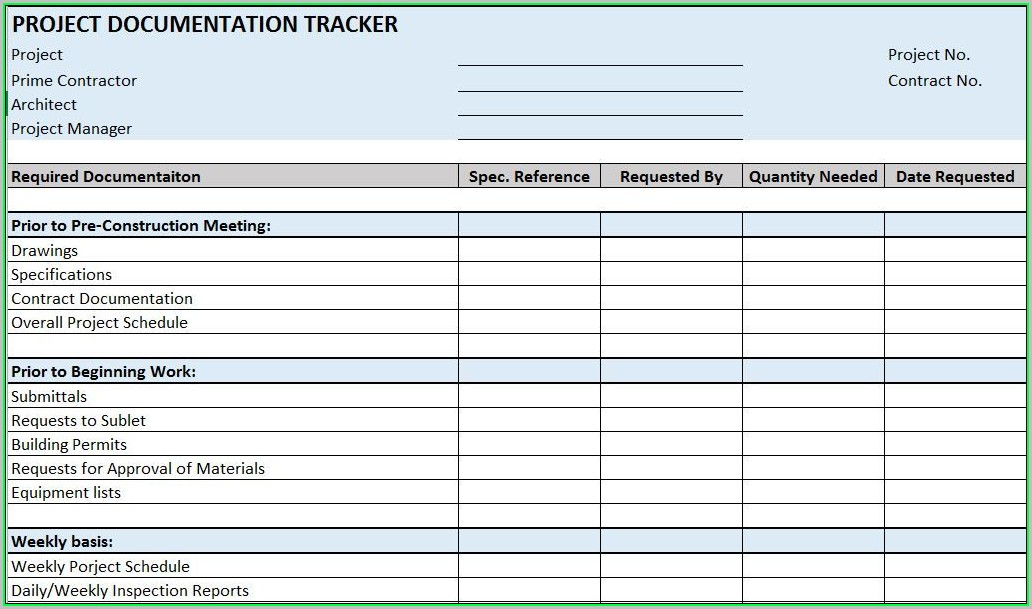 Free Project Management Templates Excel 2018