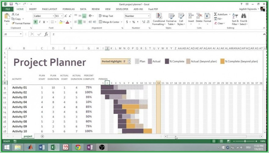 Free Project Plan Template Excel 2013