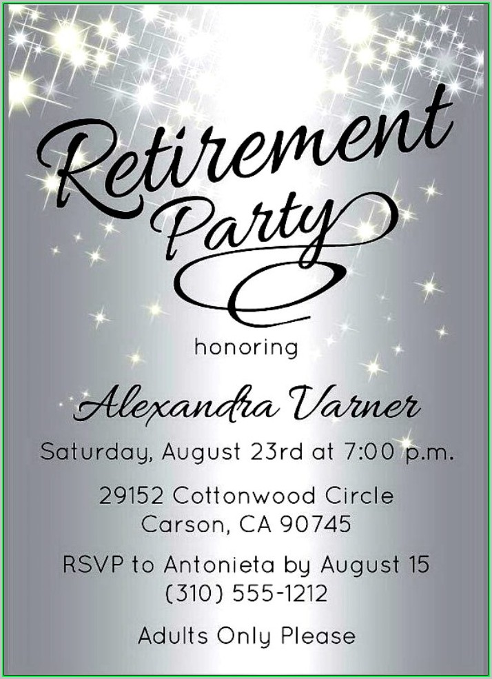Free Retirement Flyer Template Word