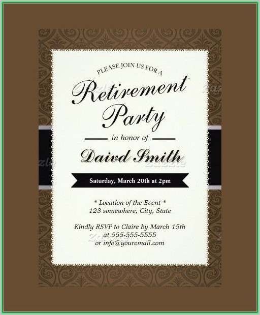free retirement invitation templates for word template 1 resume