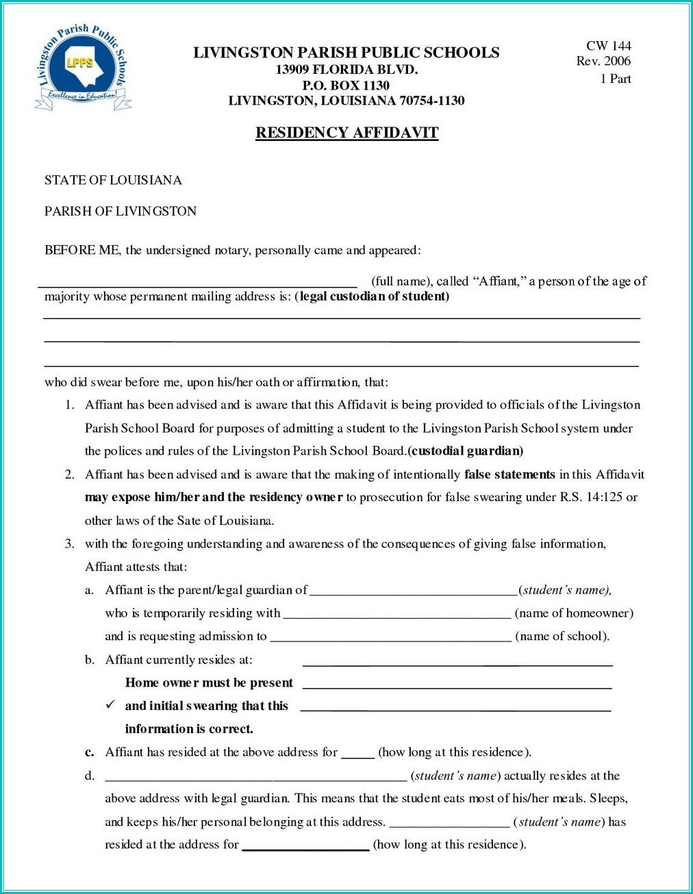Temporary Guardianship Forms Missouri
