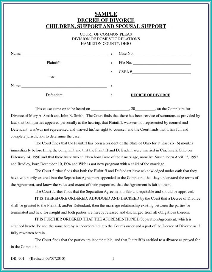 Texas Uncontested Divorce Forms Pdf