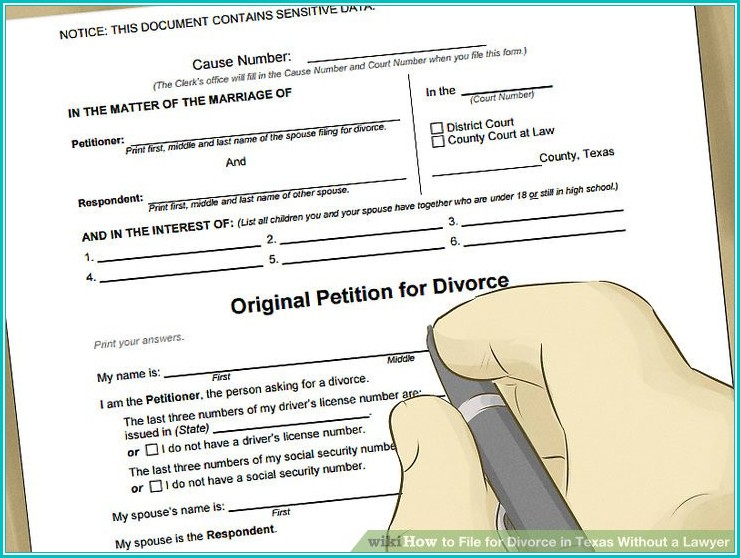 Texaslawhelp Divorce Form Set B