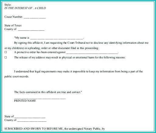 Voluntary Child Custody Agreement Form Texas