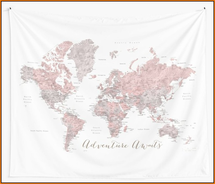 World Map Tapestries