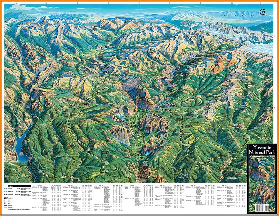 Yosemite Trail Maps