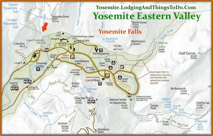Yosemite Valley Lodging Map