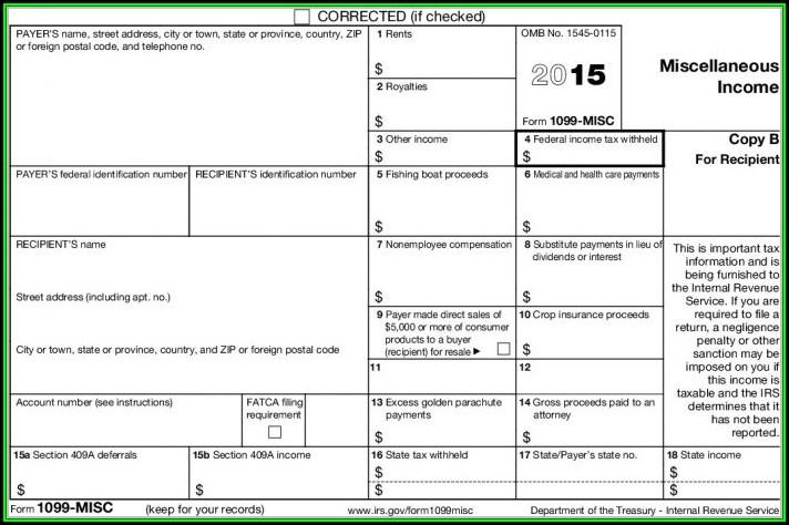 1099 Tax Form 2015 Printable
