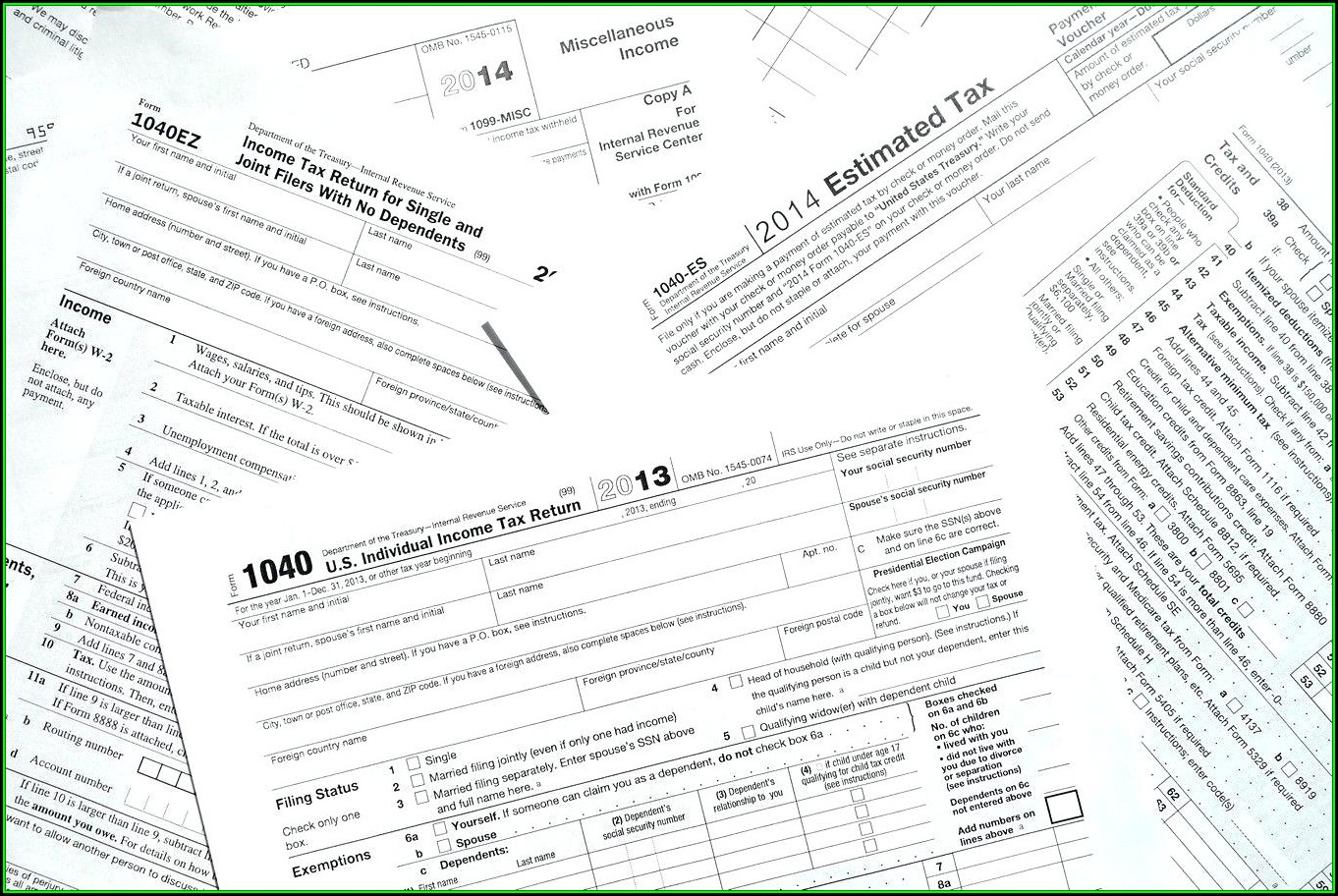 2013 Tax Return Form 1040a