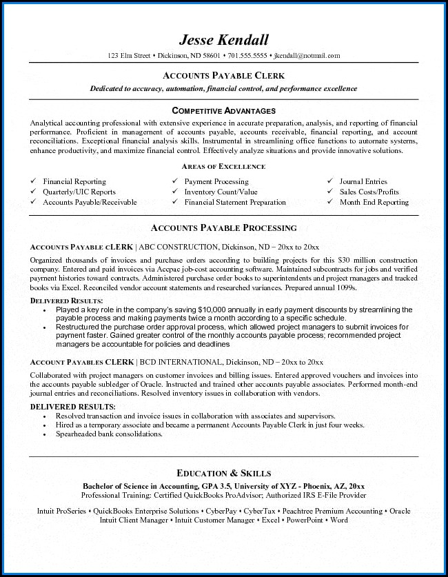 Accounts Payable Resumes