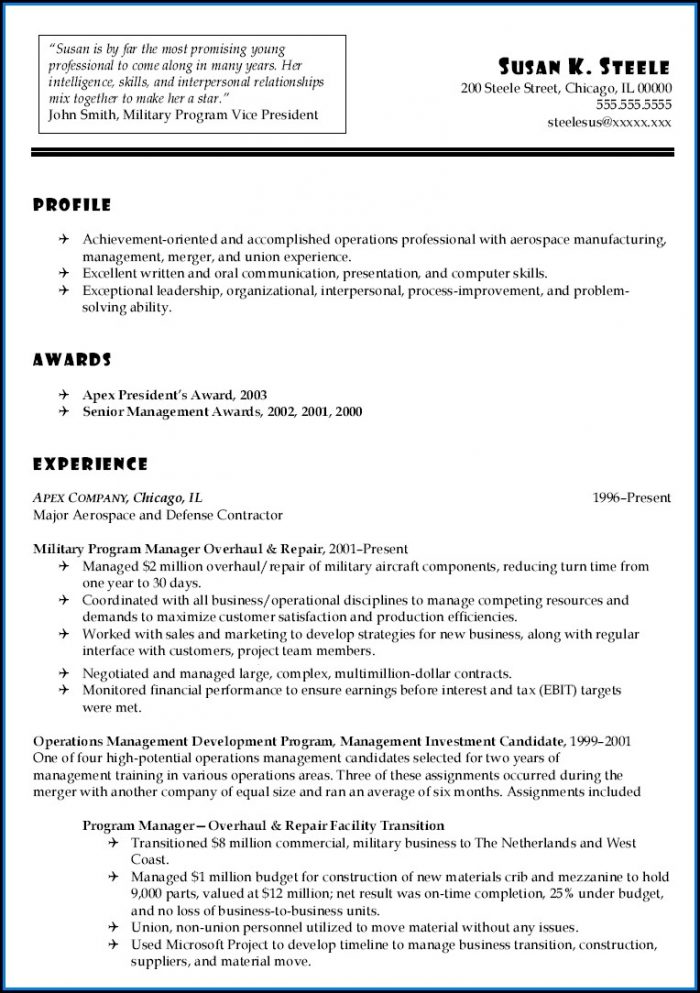 Army Acap Resume Builder