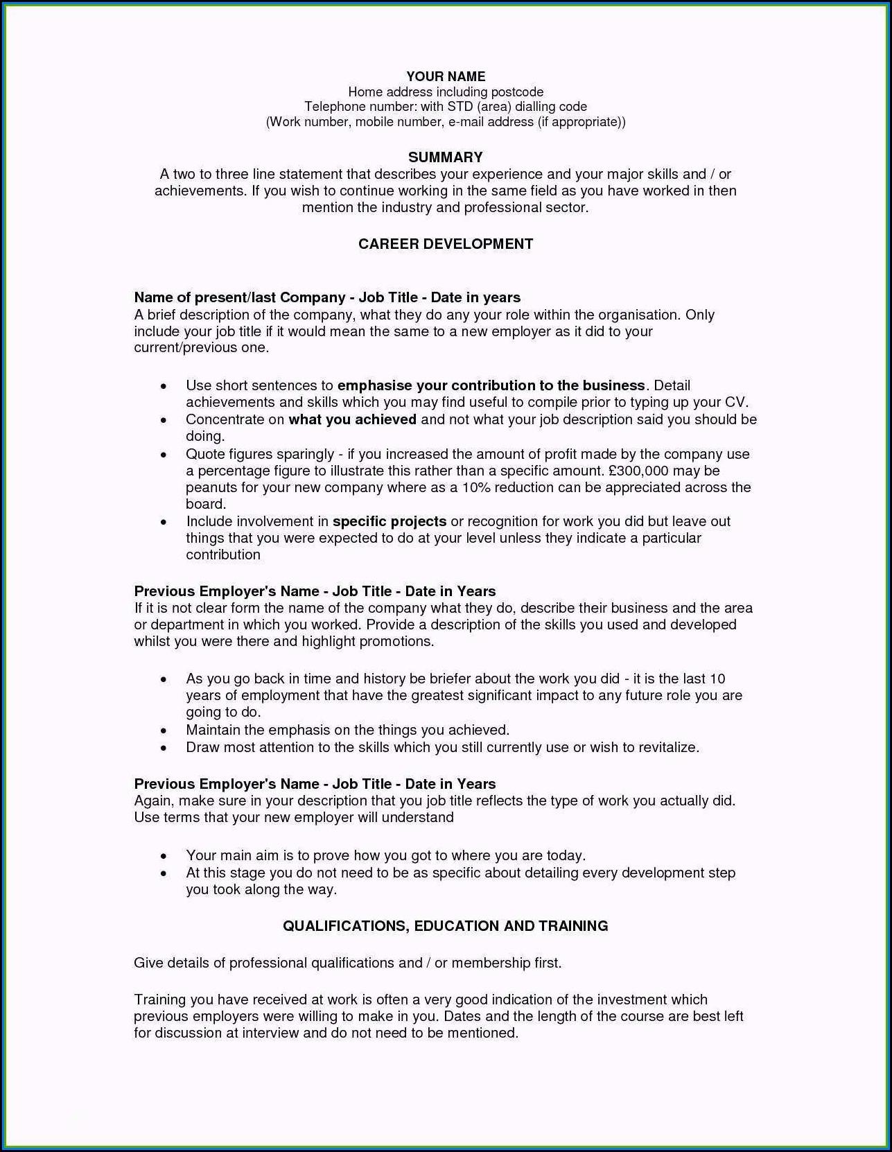 Ats Compatible Resume Sample