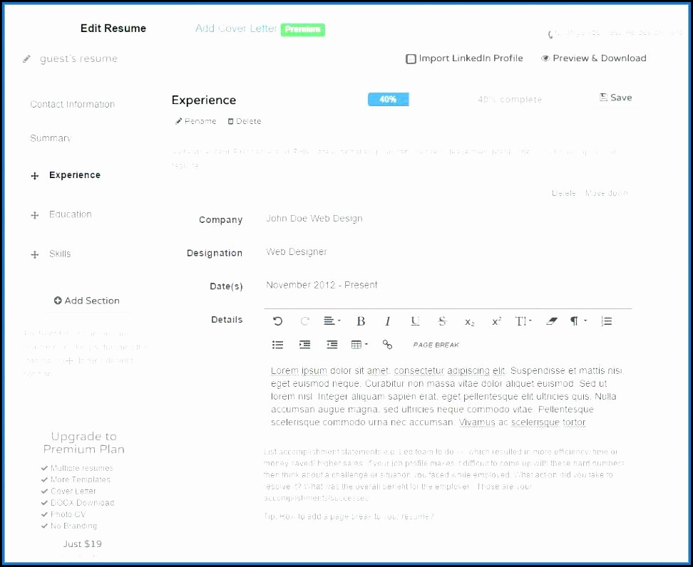 Best Resume Builder Software Free Download