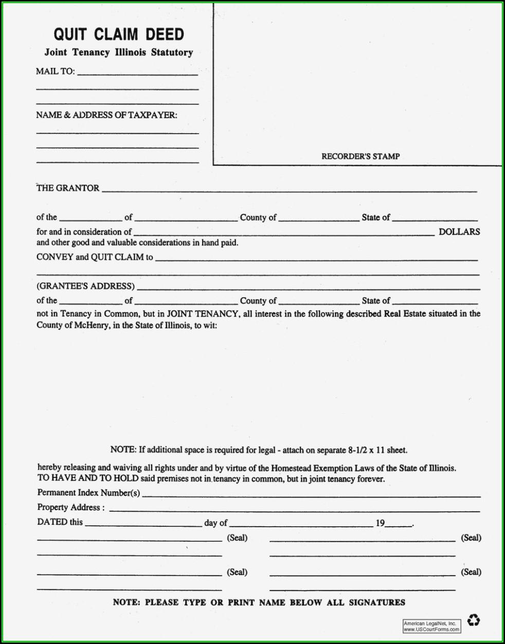 Blank Quit Claim Deed Form Nevada