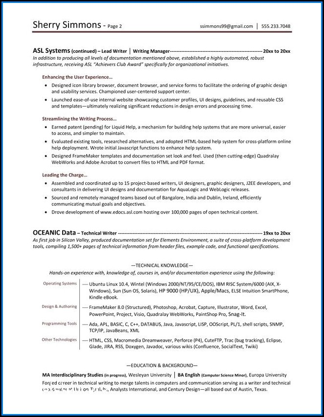 Boeing Resume Writer