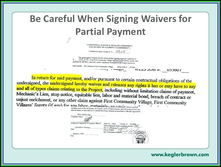 Chicago Title Lien Waiver Form Illinois
