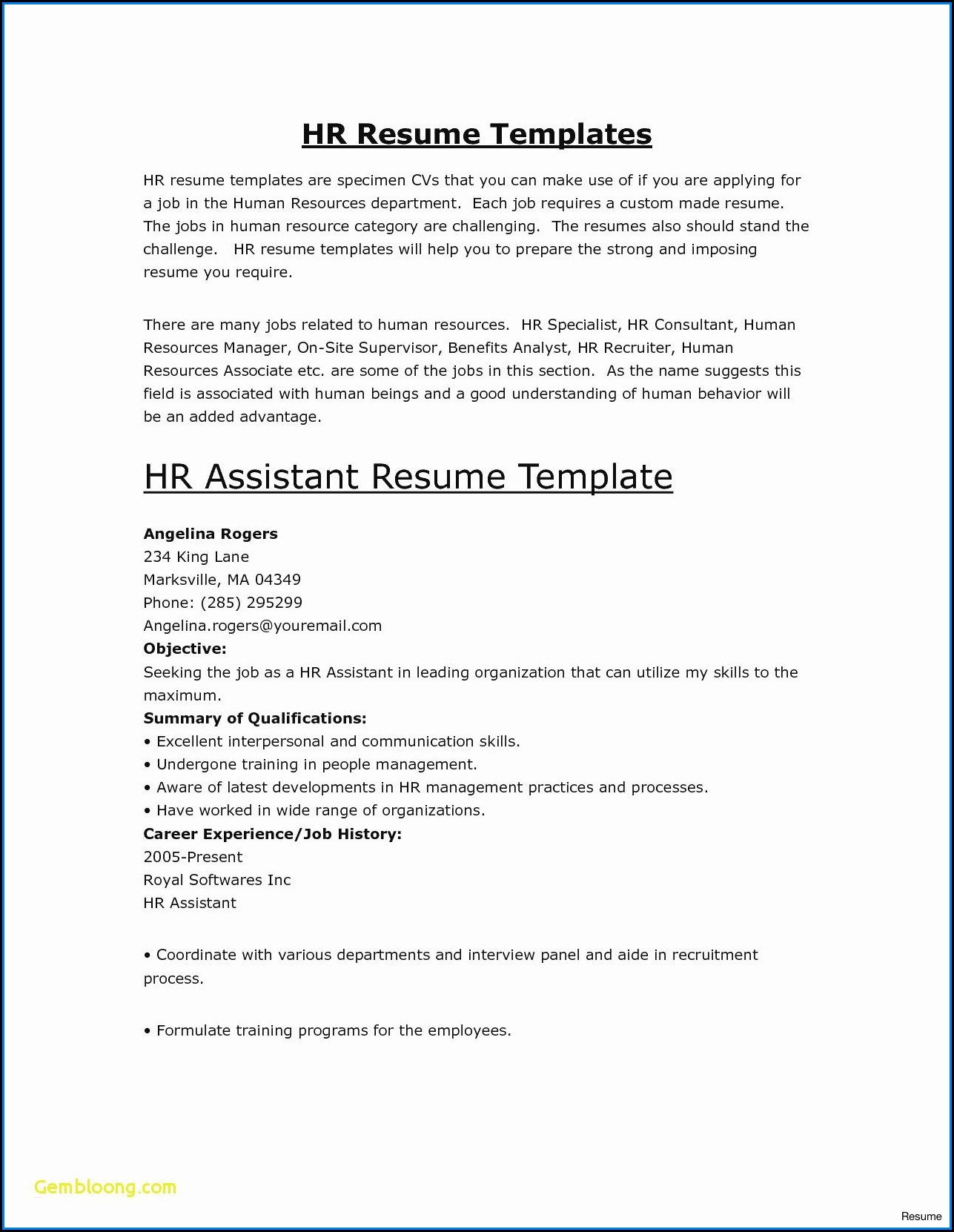 Chronological Resume Builder Free
