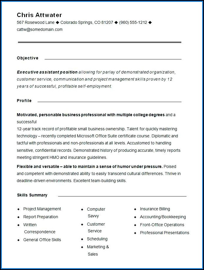 Combination Resume Builder