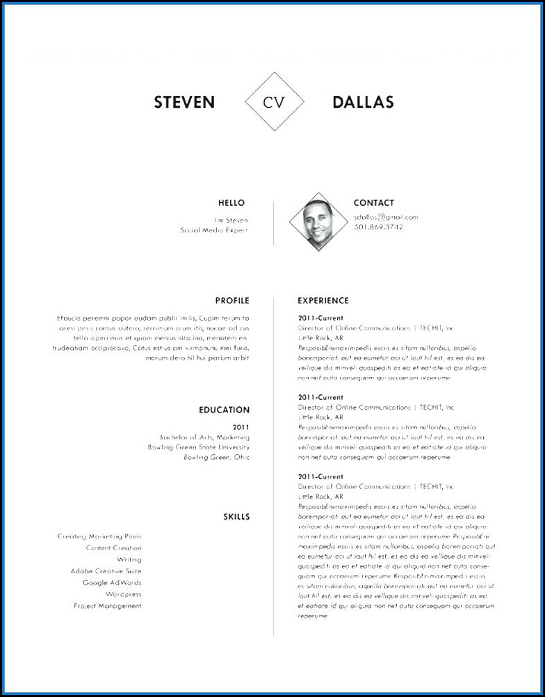 Creative Resume Templates Doc Free Download