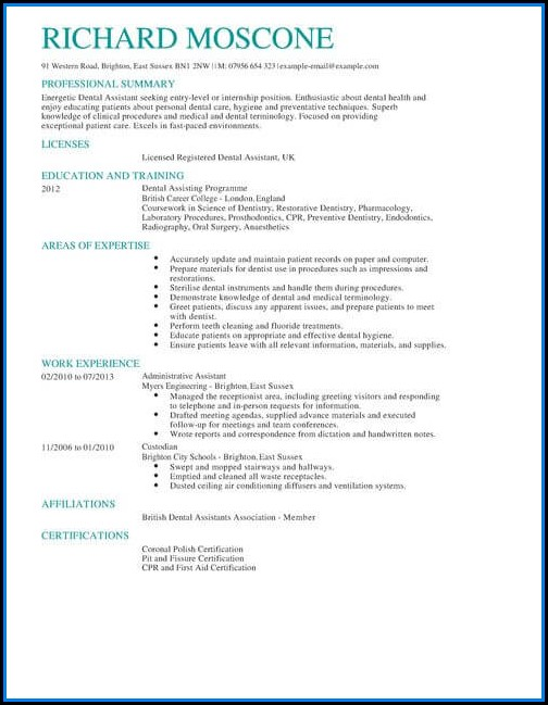 Dental Cv Template