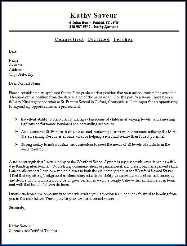 Examples Resume And Cover Letter