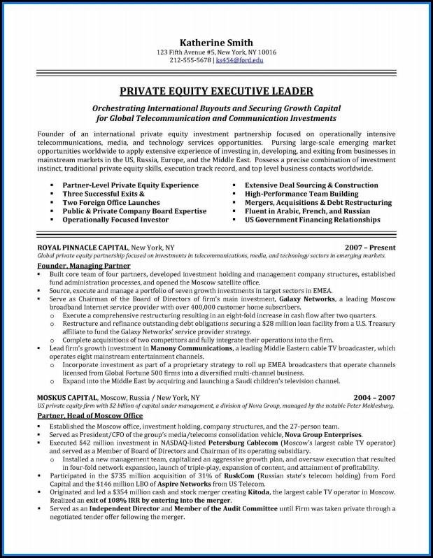 Executive Resumes Sample