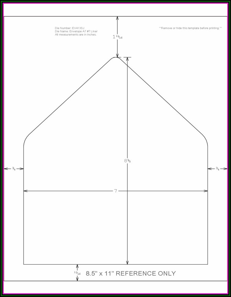 A7 Envelope Printing Template