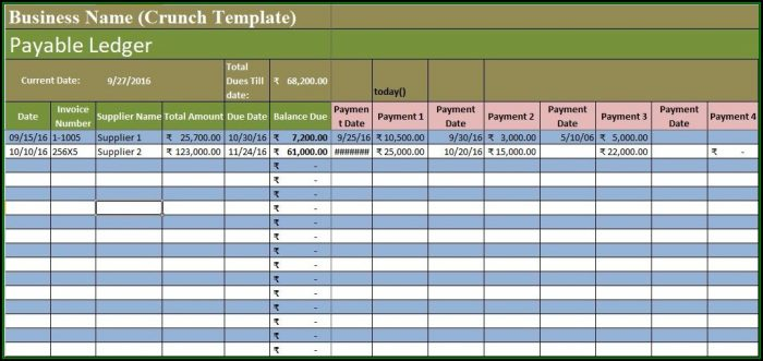 Accounts Payable Template Free