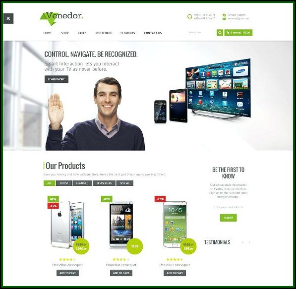Bootstrap Responsive Ecommerce Website Templates Free Download Html With Css
