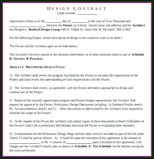 Builder Client Contract Template