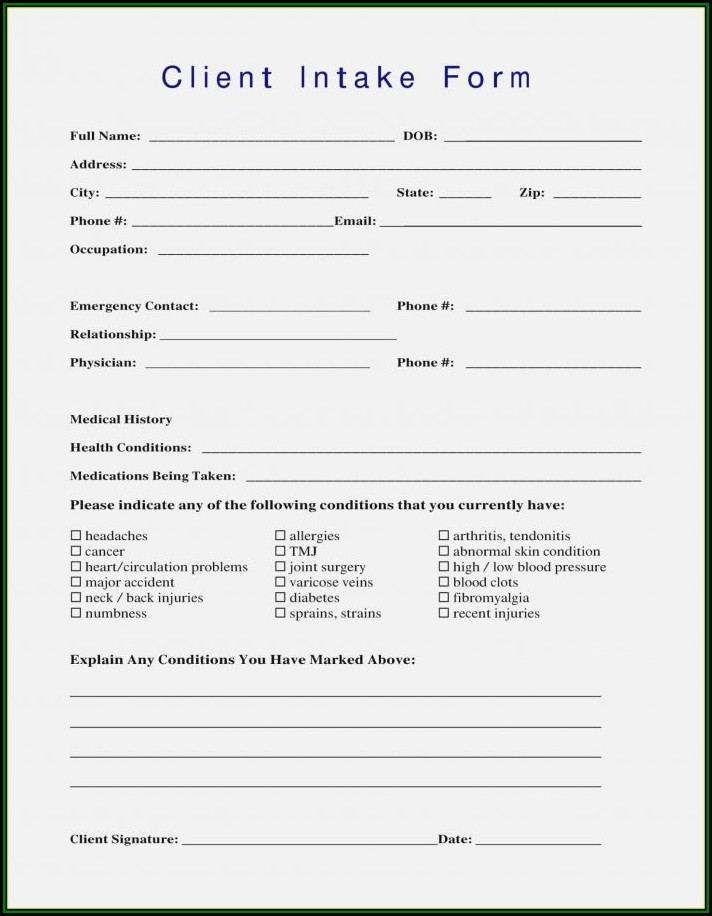 Client Onboarding Form Template