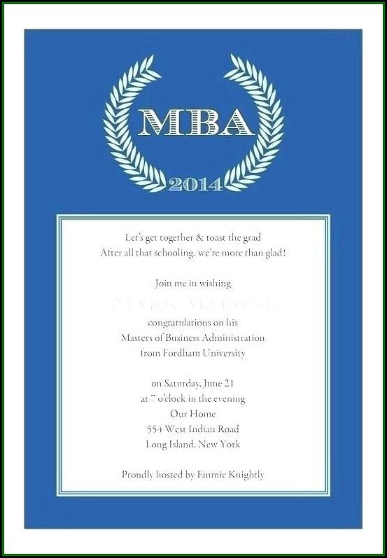 College Graduation Invitation Samples